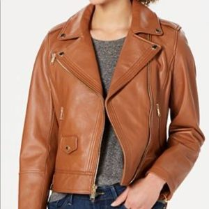 Michael Kors light brown leather jacket, XS